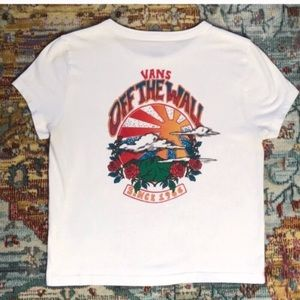 Vans | Authentic Off The Wall White Crop Top XS